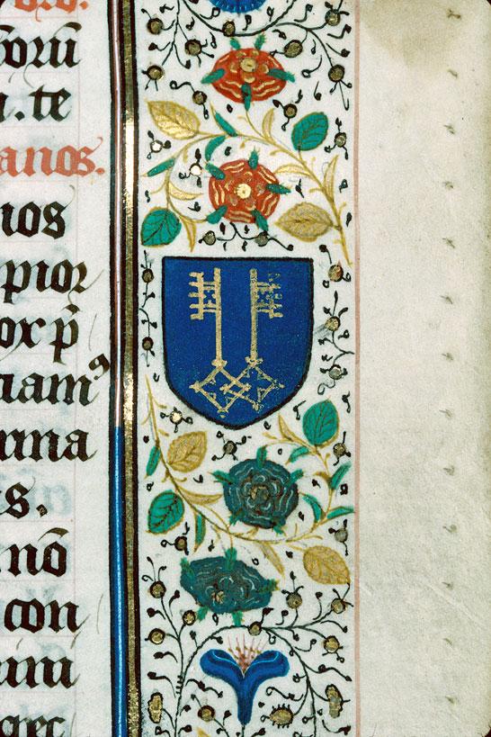 Missel à l'usage d'Autun - Page décorée, avec armes de la famille Clugny_0