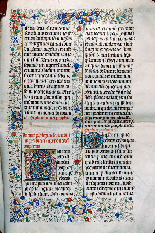 Bible (fragment) - Initiales ornées_0
