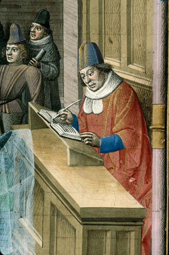Remèdes de l'une et l'autre fortune - Roue de fortune et Pétrarque écrivant_0