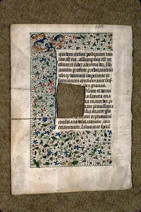 Heures (fragment) - Page décorée_0