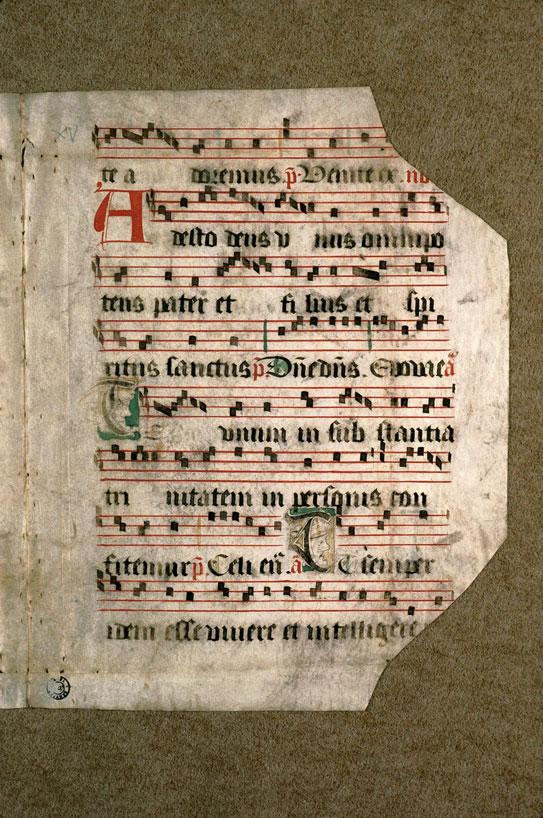 Antiphonaire (fragment) - Têtes d'hommes_0