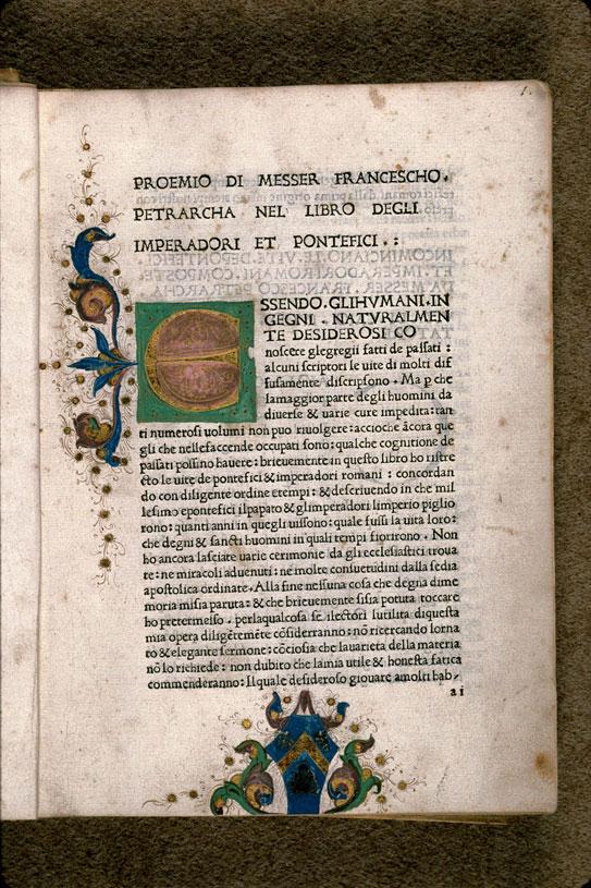 Libro degli imperadori et pontefici