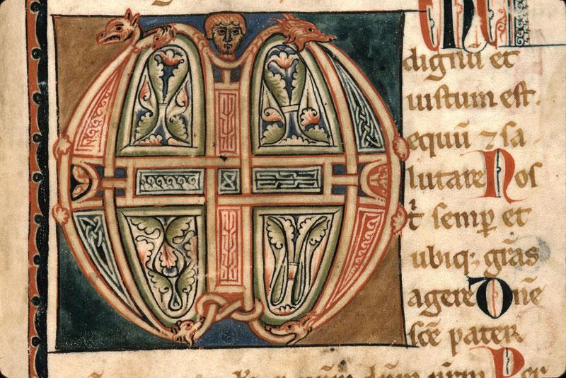 Sacramentaire à l'usage de Fréjus - Initiale ornée_0