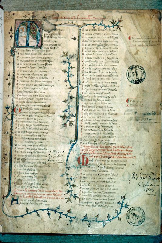 Roman de la Rose - Page décorée_0