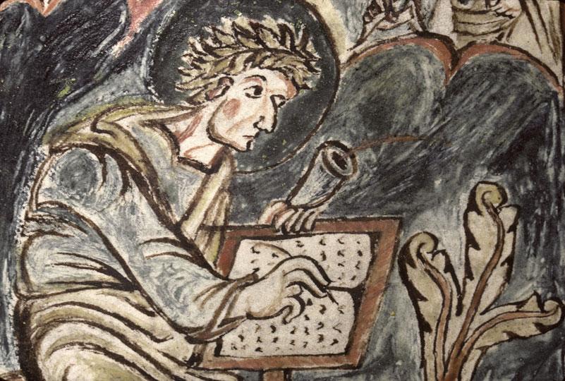 Evangiles - Saint Matthieu écrivant et son symbole_0
