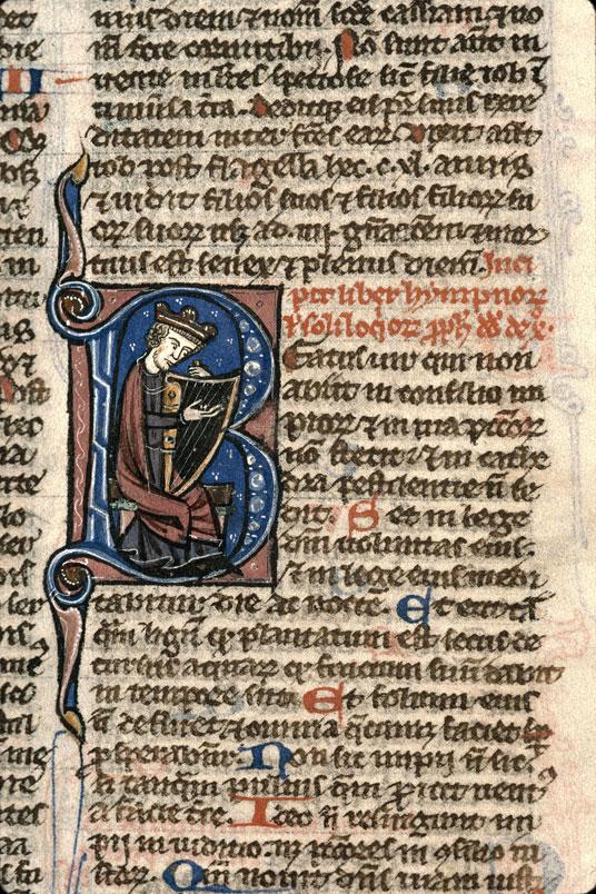 Bible - David accordant sa harpe_0