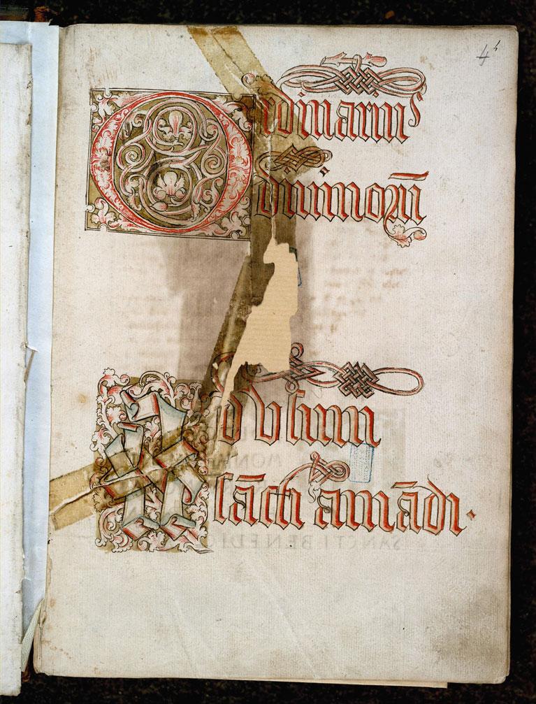 Cérémonial à l'usage de l'abbaye de Saint-Amand/Ordinaire à l'usage de l'abbaye de Saint-Amand - Ecriture d'apparat_0