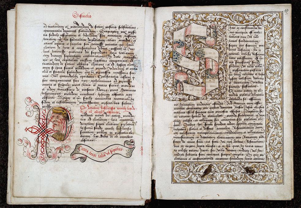 Cérémonial à l'usage de l'abbaye de Saint-Amand/Ordinaire à l'usage de l'abbaye de Saint-Amand - Page décorée_0