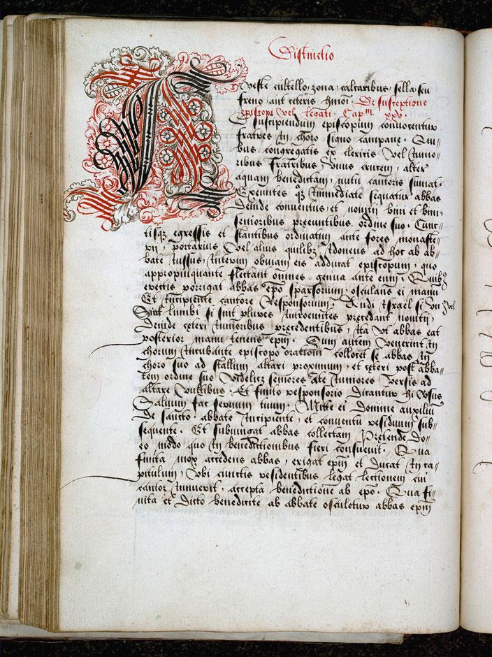 Cérémonial à l'usage de l'abbaye de Saint-Amand/Ordinaire à l'usage de l'abbaye de Saint-Amand - Initiale cadelée_0