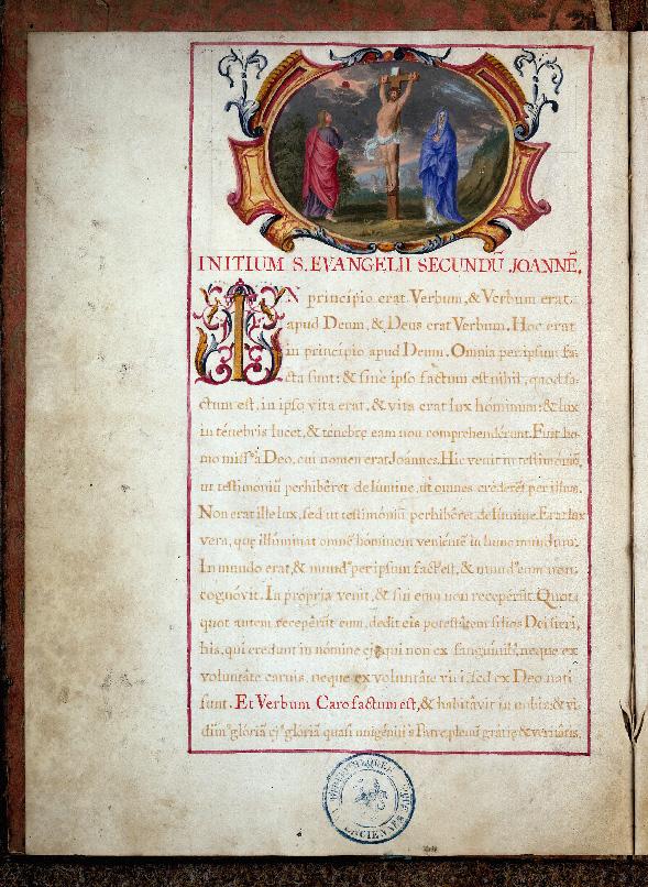 Serment des archers de la compagnie de Saint-Sébastien de Valenciennes - Christ en croix entre Marie et Jean_0