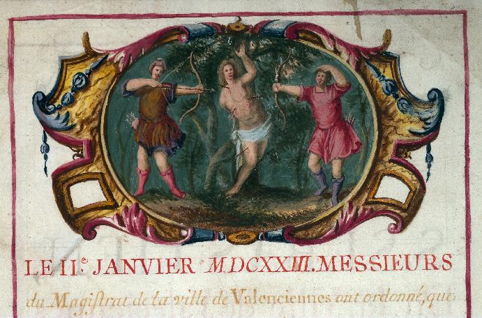 Serment des archers de la compagnie de Saint-Sébastien de Valenciennes - Martyre de saint Sébastien_0