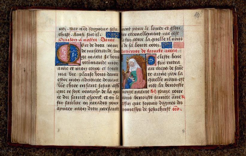 Recueil de prières - Sainte Anne apprenant à lire à la Vierge_0