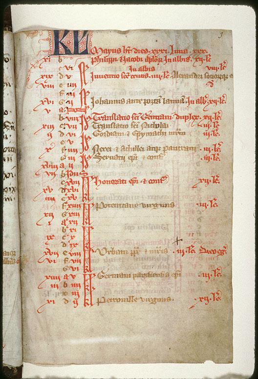 Bréviaire à l'usage de l'abbaye Saint-Pierre de Corbie - Initiales filigranées_0