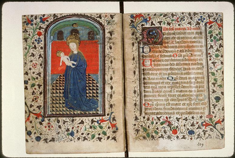 Diurnal à l'usage de l'abbaye Saint-Pierre de Corbie - Vierge à l'Enfant_0
