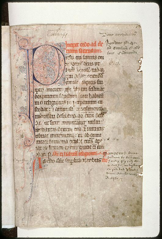 Pontifical à l'usage d'Amiens/Livre de prières - Initiale filigranée_0