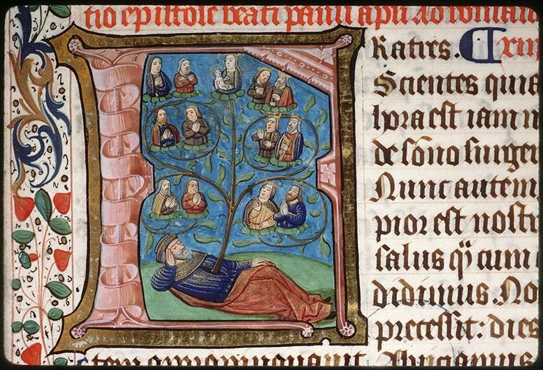 Epistolier à l'usage des ermites de saint Augustin d'Amiens - Arbre de Jessé_0