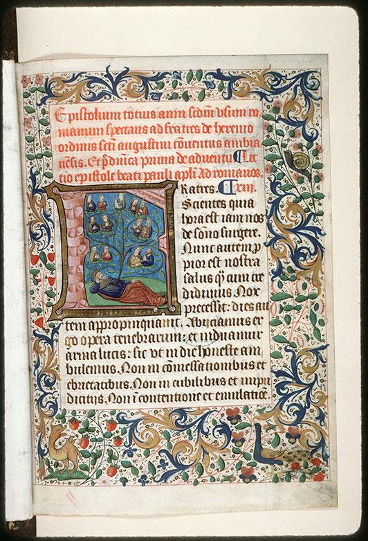 Epistolier à l'usage des ermites de saint Augustin d'Amiens