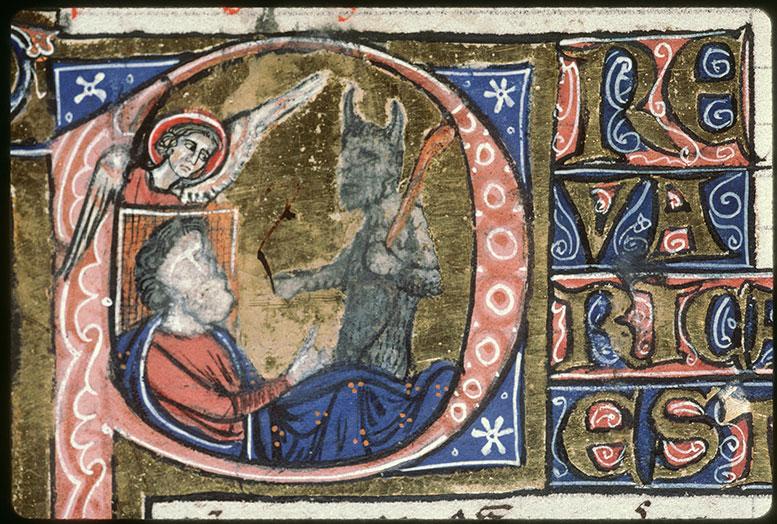 Bible (partie de) - Ochozias consultant Baal Zebub, et un ange_0