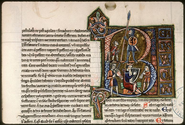 Bible (partie de) - David et Goliath/David jouant de la harpe et musiciens_0