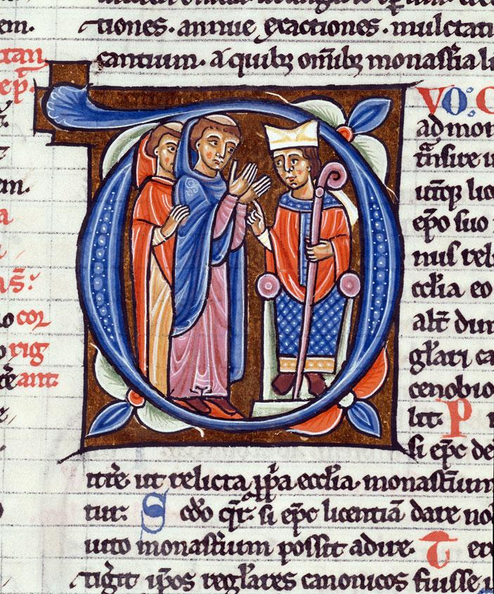 Decretum - Clercs demandant à l'évêque l'autorisation d'entrer dans un monastère_0