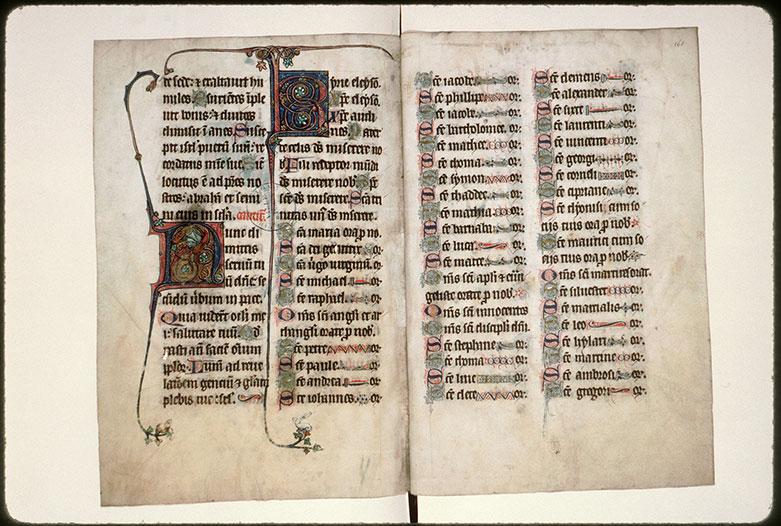 Psautier à l'usage d'Amiens - Initiales ornées et filigranées_0