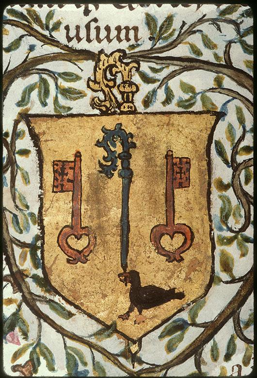 Collectaire à l'usage de l'abbaye Saint-Pierre de Corbie - Page décorée, avec armes de l'abbaye de Corbie_0