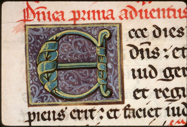 Collectaire à l'usage de l'abbaye Saint-Pierre de Corbie - Initiale ornée_0