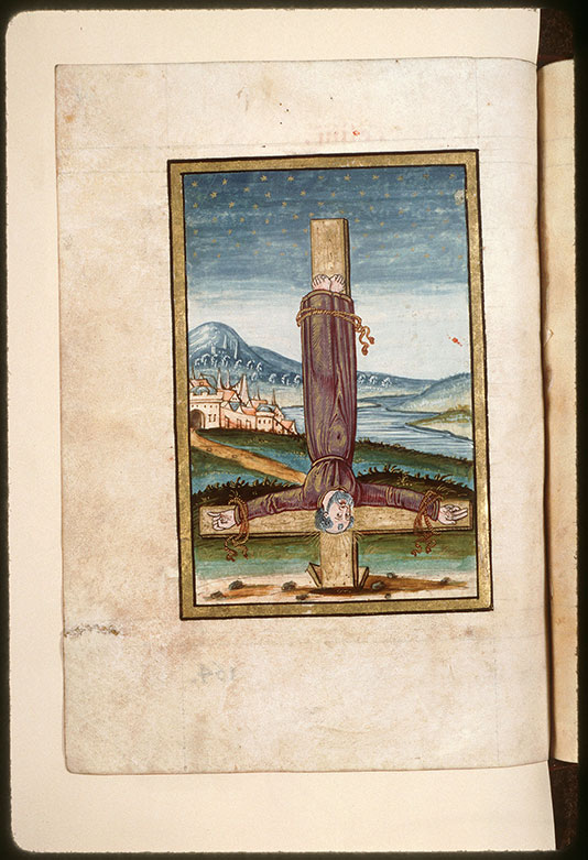 Collectaire à l'usage de l'abbaye Saint-Pierre de Corbie - Crucifiement de saint Pierre_0