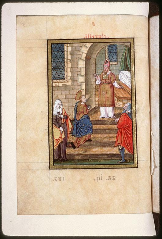 Collectaire à l'usage de l'abbaye Saint-Pierre de Corbie - Présentation de la Vierge au Temple_0