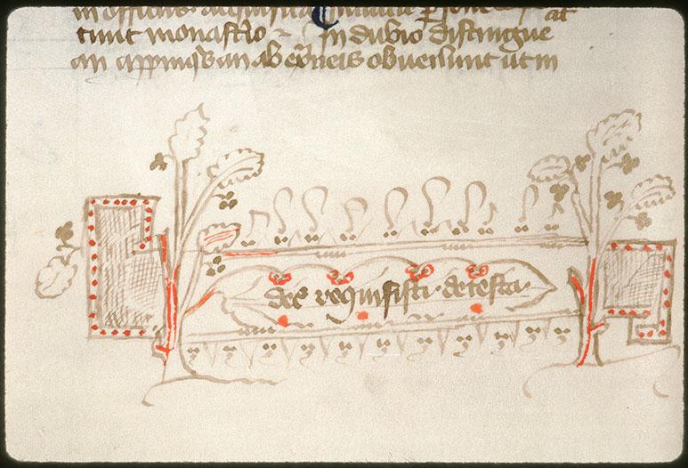Novella in Decretales Gregorii VIIII - Motifs végétaux_0