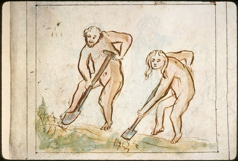 Bible en images - Adam et Eve au travail_0