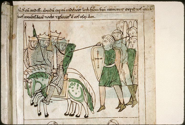 Bible en images - Campagne d'Abraham contre les quatre rois_0