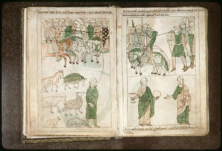 Bible en images - Rencontre d'Abraham et de Melchisédech_0