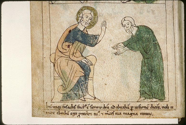 Bible en images - Dieu parlant à Abraham_0