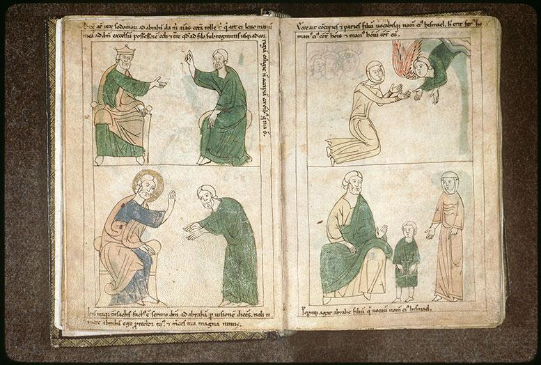 Bible en images - Abraham donnant son nom à Ismaël présenté par Agar_0