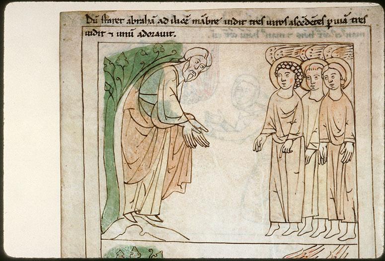 Bible en images - Abraham et les trois anges_0