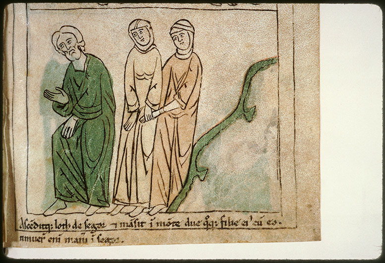 Bible en images - Lot et ses deux filles montant de Çoar_0