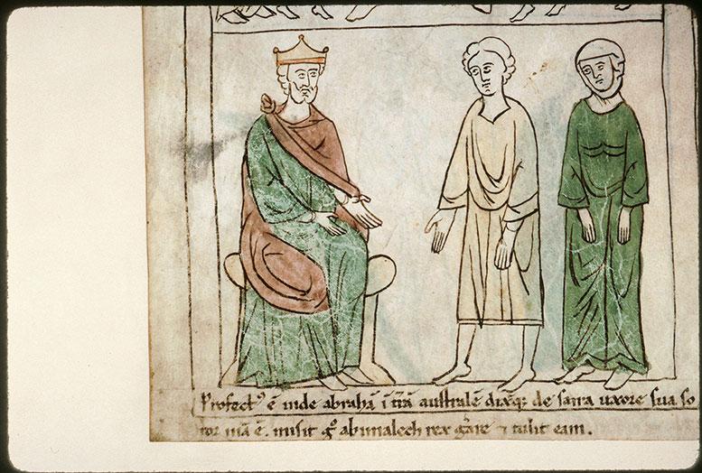 Bible en images - Abraham et Sara devant Abimélek_0