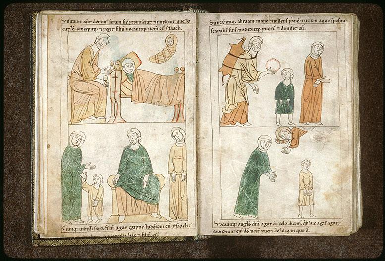 Bible en images - Sara demandant à Abraham de chasser Agar_0