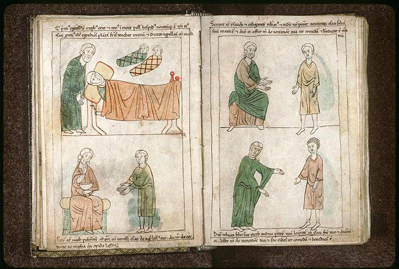 Bible en images - Naissance d'Esaü et de Jacob_0