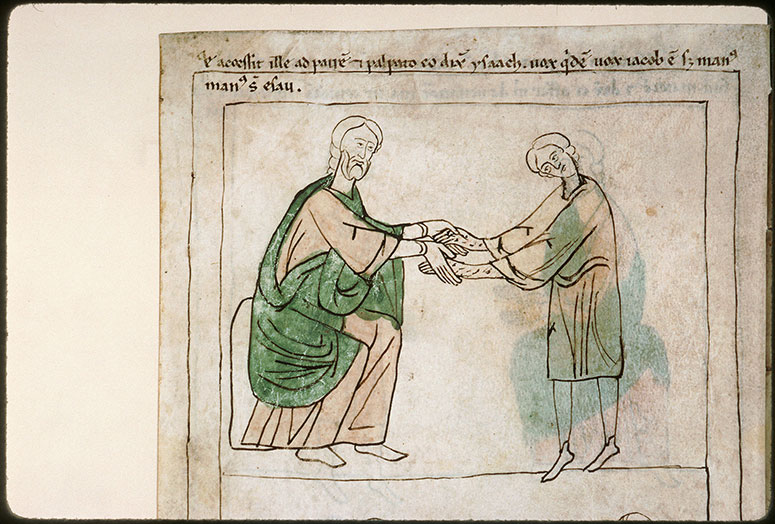 Bible en images - Isaac confondant Jacob avec Esaü_0