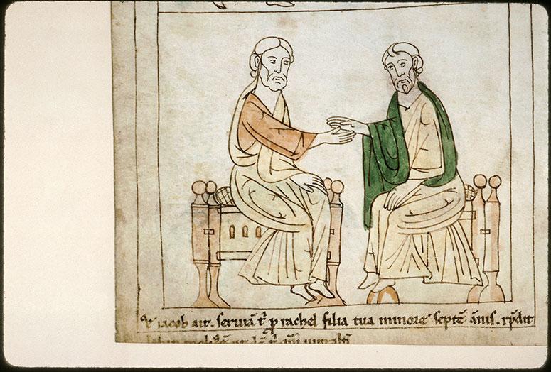 Bible en images - Accord matrimonial entre Laban et Jacob_0