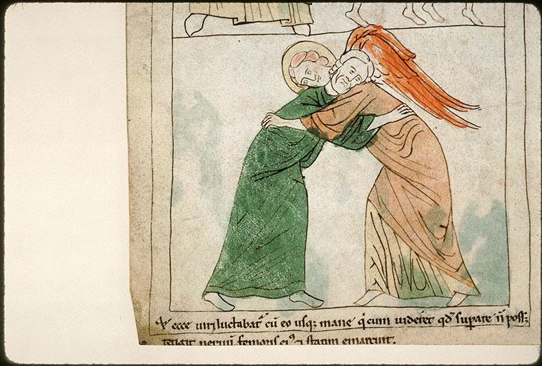 Bible en images - Combat de Jacob avec l'ange_0