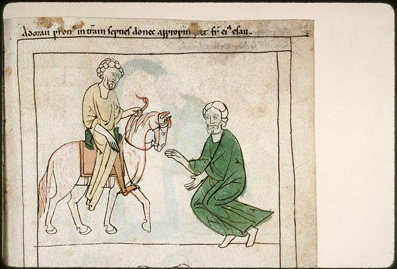 Bible en images - Rencontre d'Esaü et de Jacob_0