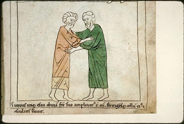 Bible en images - Réconciliation d'Esaü et de Jacob_0