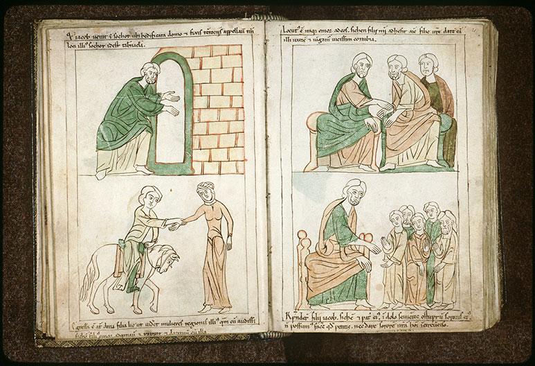 Bible en images - Fils de Jacob et l'accord matrimonial entre Jacob et Hamor_0