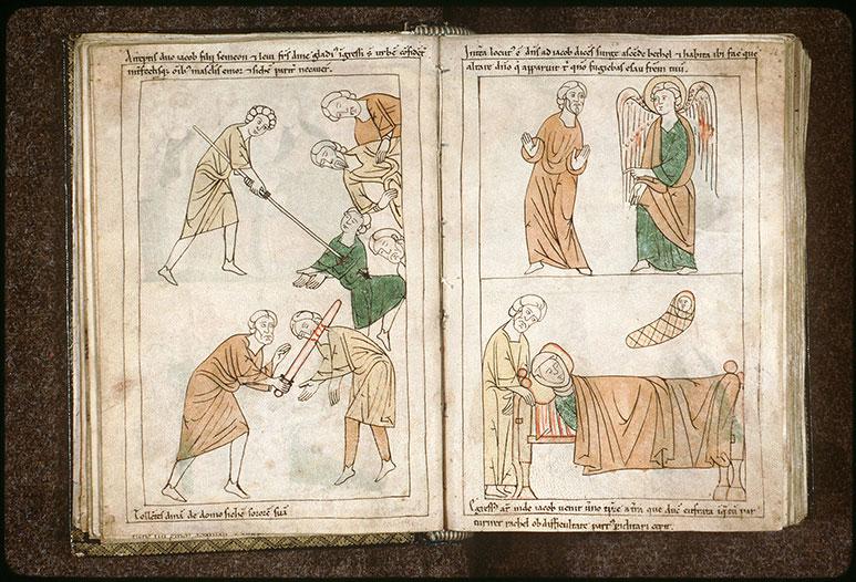 Bible en images - Ange ordonnant à Jacob d'aller à Béthel_0