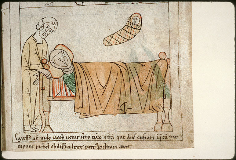 Bible en images - Naissance de Benjamin et mort de Rachel_0