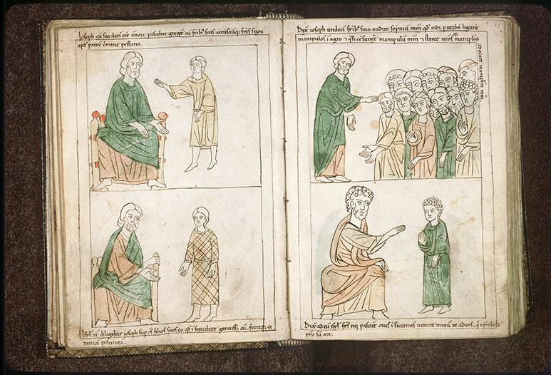 Bible en images - Joseph dénonçant les fautes de ses frères à Jacob_0