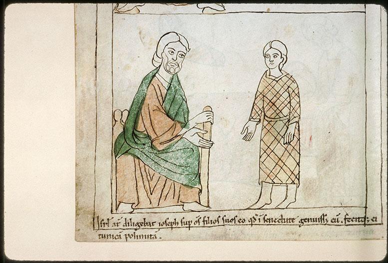 Bible en images - Joseph vêtu de la tunique que Jacob lui a fait faire_0